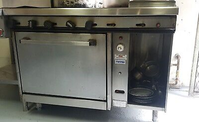 commercial oven and 6 burner stove