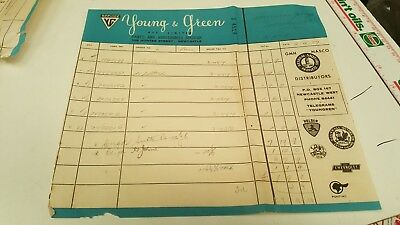 1959 GMH HOLDEN Young & Green Newcastle Dealers Parts Form RARE