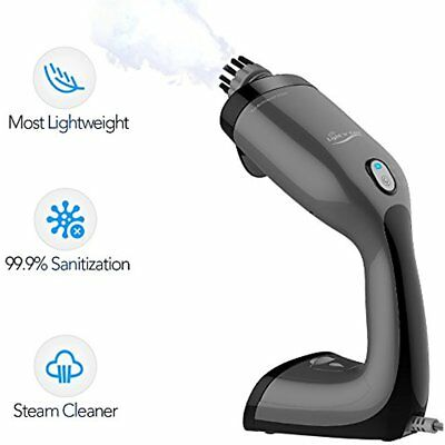 Handheld Steam Cleaner - Most Lightweight With 2 Round Brush For Stains Removal,