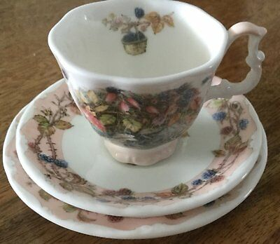 Royal Doulton Brambly Hedge Autumn Miniature Cup,Saucer & Plate.