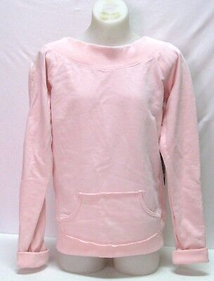 Bloch, Girls or Womans Long Sleeve Dance Sweat Top, Size Small, Pink, NWT
