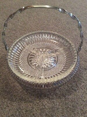 Antique Silver and Glass Dish