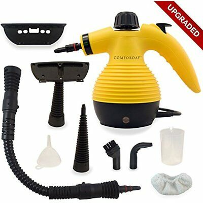 Multi-Purpose Handheld Pressurized Steam Cleaner With 9-Piece Accessories For &