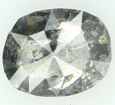 0.37 Ct Natural Loose Diamond Oval Salt And Pepper Color 5.00X4.10X2.00MM L2789