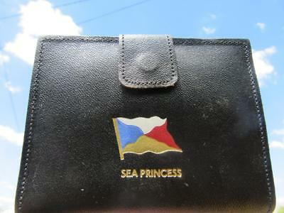 1998-Present Day Sea Princess Souvenir Purse/Wallet Avoncliff Real Leather Pig S