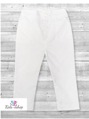 Baby Boy White Smart Formal Trousers Pageboy Little Gentleman  0-18M