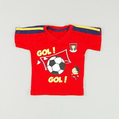 Camiseta color Rojo marca Early days 9 Meses