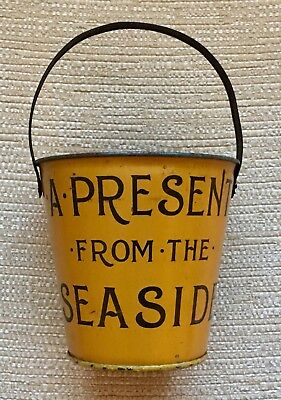 A Rare Victorian Antique Childs Sand Bucket A Present From The Seaside