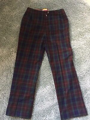 Vintage Fletcher Jones tailored plaid straight pants