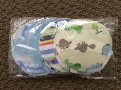 4 Pairs Of Reusable Breast Pads Washable Great Little Gift!