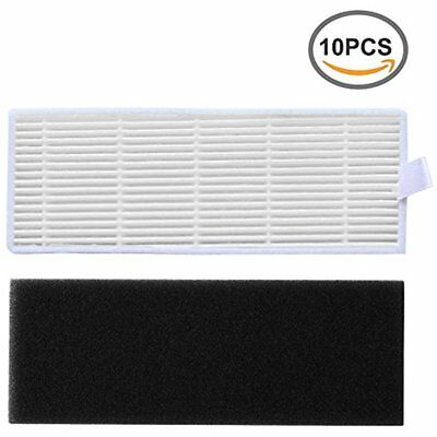 10-Pack Replacement High Efficiency Filter & Sponge Kit For ILIFE A6 A4 A4s