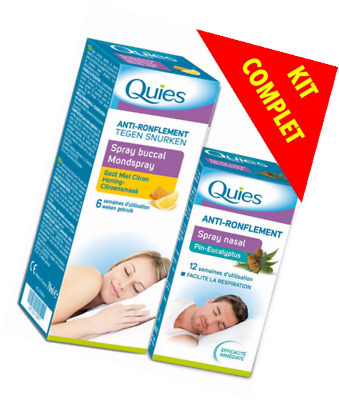 Quies Anti-Ronflement Bi-Pack - BUCCAL et NASAL - Bi-ACTION: NEZ et GORGE