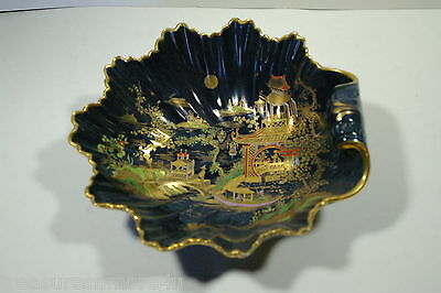 1920's Carlton Ware W&R Temple Gold Trimmed And Painted Royal Blue Bowl