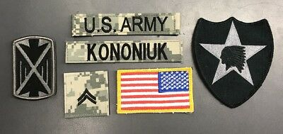 6 US Army Patch Set ACU UCP at Digital Convolute Flag Corporal 2nd Division