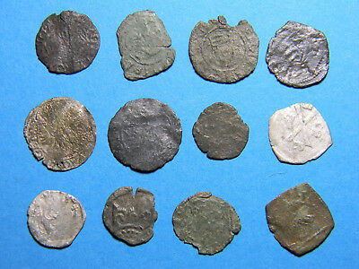 Hungary lot of (12) silver and copper Medieval  coins  (0582)
