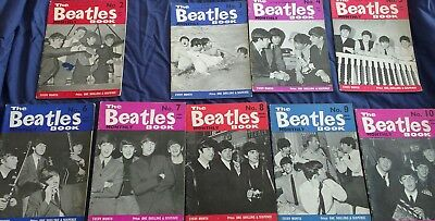 Beatles Book Monthly Original issues no 2 - 10  ,SEP 1963-May 1964