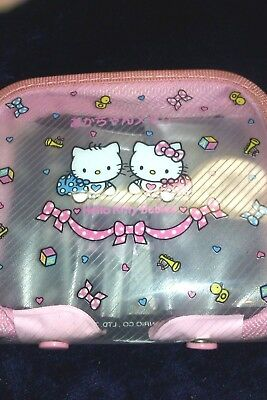 Vintage 1998 HELLO KITTY BABIES see through Purse/Wallet.TOKYO JAPAN.