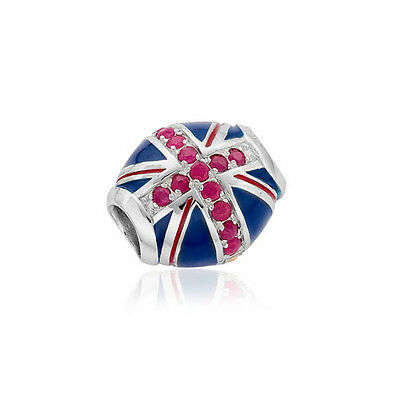 BRAND NEW Clogau Silver & Rose Gold Union Jack Milestones Bead Charm £90 off
