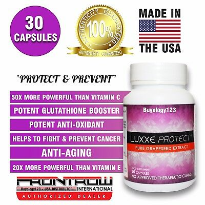 30 Luxxe Protect Pure Grapeseed Extract Oil Capsules Pills Antioxidant 500mg