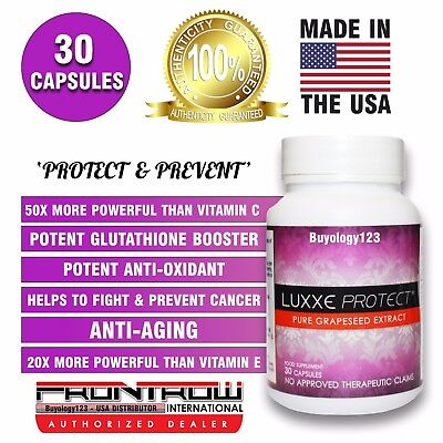 Luxxe Protect Pure Grapeseed Extract Oil 30 Capsules Pills Antioxidant 500mg
