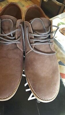 Topman Mens  Chocolate trigger  Brown Faux Suede  Shoes size 8
