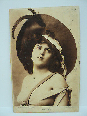Vintage Cpa Oricelly Meaty Fleuron Actrice Courtisane Sensualite  1905