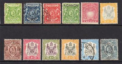 Africa 12 Early Stamps Mixed Condition (some faults)