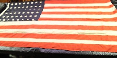 Vintage 48 Star United States Flag, Approximately 92 by 52 inches, Wool WWII Era