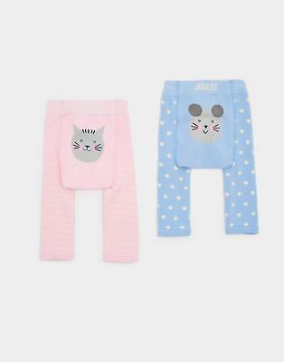 Joules 124467 Baby Girls Lively 2pk Footless Leggings & Soft Waistband in Mouse