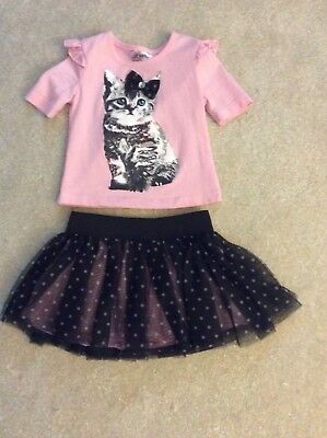 Toddler Little Girl Outfit - Skirt w/Matching Shirt - Size 2T