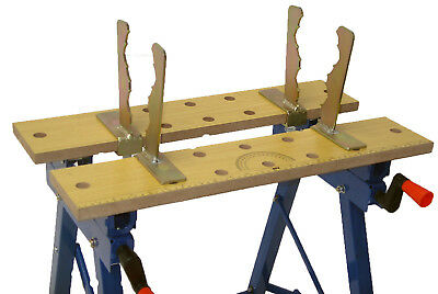 WORK BENCH LOG CLAMPS BENCH JAWS CHAINSAW LOG SAW HORSE FIT BENCHES 15-25mm THK