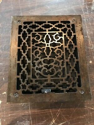 T5 antique cleaning lacquered cast-iron heating great 9 5/8 x 11 3/8