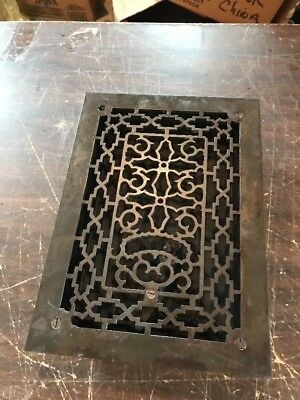 T10 Antique Cast-Iron Heating Grate 9.75 X 13.75 Cleaned