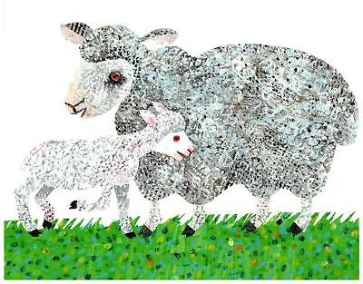 Eric Carle Print Sheep Mother and Baby Wall Art Nursery Toddler Kids decor