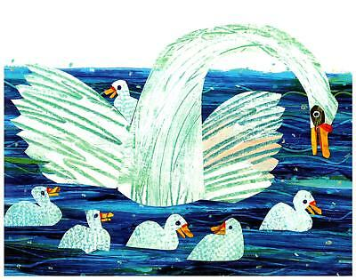Eric Carle Print Swan Mother and Babies Wall Art Nursery Toddler Kids decor