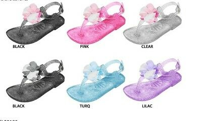 Wholesale Lot New 72 prs  Toddler Girl Jelly Sandal with Chiffon Flower