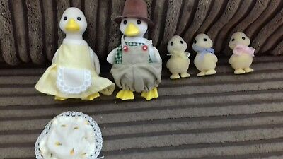 ** Sylvanian Families TOMY Vintage Puddleduck Duck Family ** RARE