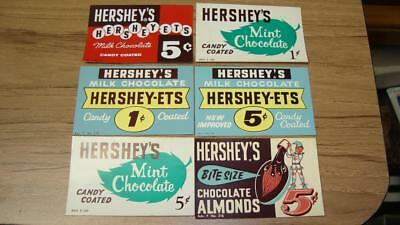Vintage Vending Candy Machine Display Card Hershey  Lot of 6 Different NOS
