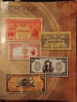 Heritage Auction World Currency Banknotes  Asian Chinese Coin 2017 Long Beach