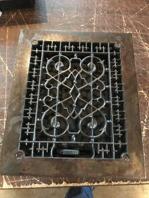 T 21 antique decorative heating grate 9.75 x 11.75