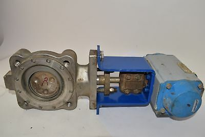 Jamesbury 815L113600X7 3'' Spring Return Actuator Butterfly Valve