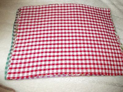 Red Gingham Table Cloth For A Dols House