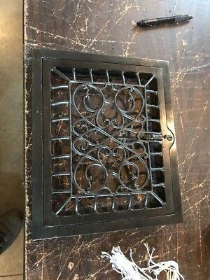 T 24 Antique Cast-Iron Swirly Heating Grate Face 9.75 X 11.75