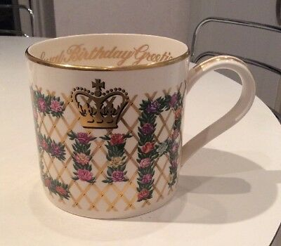 WEDGWOOD China Mug 1986 For The queens 60th Birthday. RARE.