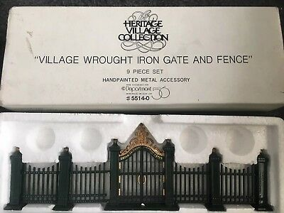 Dept 56 -Accesssory 55140 Village Wrought Iron Gate and Fence Set