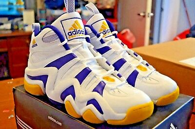 best loved dd034 3c937 Mens Adidas Crazy 8 Kobe Lakers White Court Purple Sunshine basketball  467967