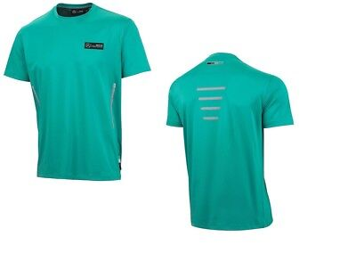 T-SHIRT Tee Formula One 1 Mercedes AMG F1 Team Hi-Viz NEW PIT Petronas Green