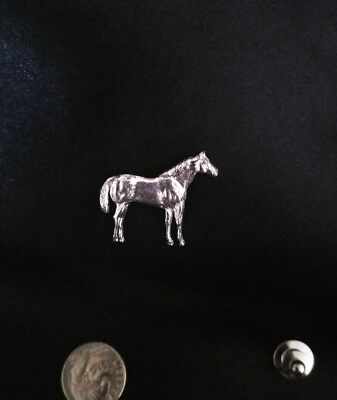 SILVER QUARTER HORSE  LAPEL HAT PIN BADGE perfect for the show ring!
