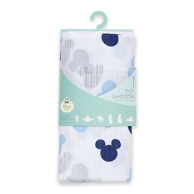 Muslin Swaddle Blankets : Aden & Anais Baby Boy Mickey Mouse Muslin Blanket