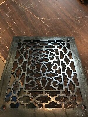 T 29 Antique Cast-Iron Heating Grate Face 11 3/8 X 9 5/8
